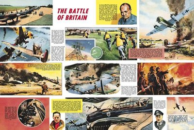 The Battle of Britain Wall Art & Canvas Prints by Frank Bellamy