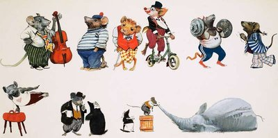 Mouse Circus Wall Art & Canvas Prints by English School