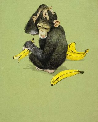 Monkey with Bananas Wall Art & Canvas Prints by English School