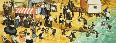 Victorian or Edwardian Beach Scene Fine Art Print by Angus McBride