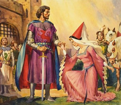 King Arthur and Guinevere Fine Art Print by James Edwin McConnell