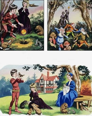 Nursery scenes Fine Art Print by Ron Embleton