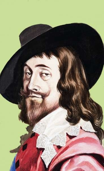 King Charles I Wall Art & Canvas Prints by Ron Embleton