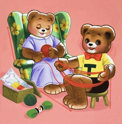 Teddy Bear Fine Art Print by English School