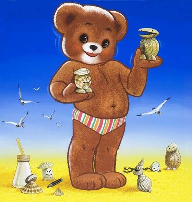 Teddy Bear Poster Art Print by William Francis Phillipps