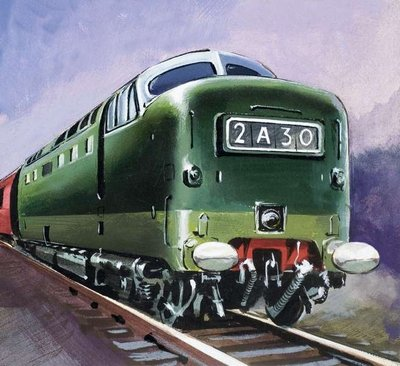 Diesel Locomotive Wall Art & Canvas Prints by English School