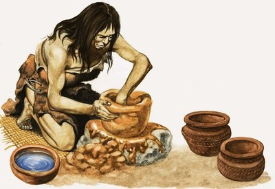 People of the New Stone Age Fine Art Print by Peter Jackson