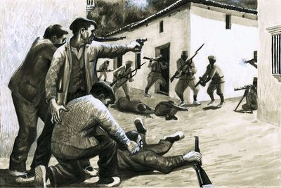Soldiers of the Spanish Civil War Fine Art Print by Eric Parker