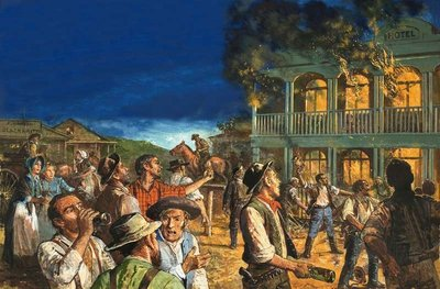 The Australian Gold Rush: The Road to Revellion Poster Art Print by Clive Uptton