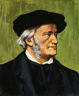 Portrait of Richard Wagner, composer of The Flying Dutchman Fine Art Print by English School