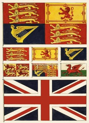 Some flags of Great Britain Fine Art Print by English School