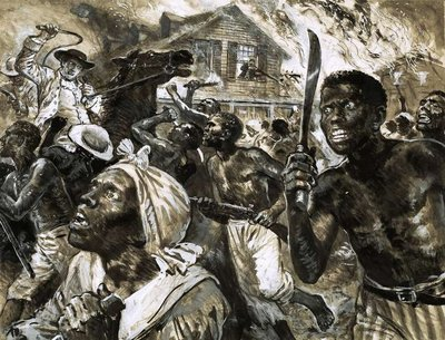 Revolt of the slave in Southern USA Fine Art Print by Clive Uptton