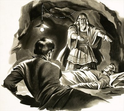 A Yankee in King Arthur's Court. Illustration based on the story by Mark Twain Wall Art & Canvas Prints by English School