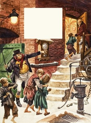 Working children of Victorian Britain Fine Art Print by Peter Jackson