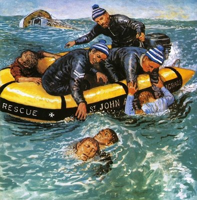 Operation Rescue Fine Art Print by Clive Uptton