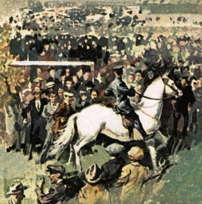 White Horse at the 1923 Cup Final at Wembley Fine Art Print by English School