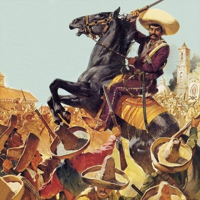 Zapata! The Bandit Who Ruled Mexico Poster Art Print by James Edwin McConnell