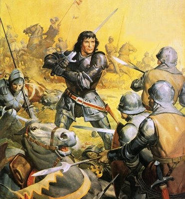 King Richard III in battle Fine Art Print by James Edwin McConnell