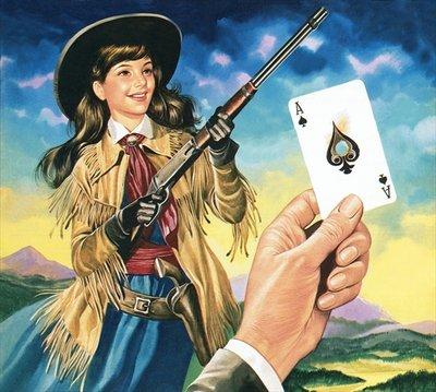 Miss Annie Oakley Fine Art Print by Ron Embleton