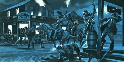 Dodge City at night Fine Art Print by Ron Embleton