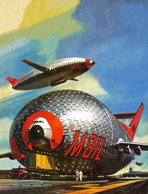 Super-Blimps of the future Wall Art & Canvas Prints by Wilf Hardy