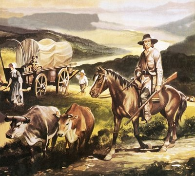 The Oregon trail Fine Art Print by Ron Embleton