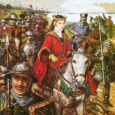 Queen Isabella invading England Fine Art Print by Clive Uptton