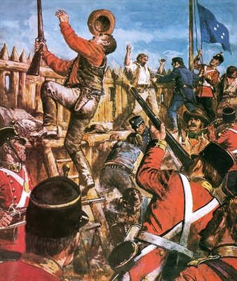 Storming of the Eureka Stockade Fine Art Print by Clive Uptton