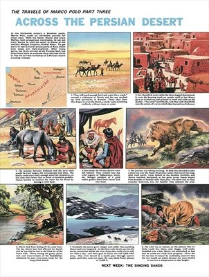The Travels of Marco Polo Fine Art Print by Ron Embleton
