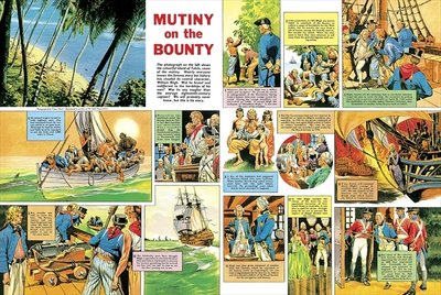 Mutiny on the Bounty Fine Art Print by Ron Embleton