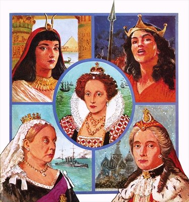 Women who ruled Fine Art Print by Clive Uptton