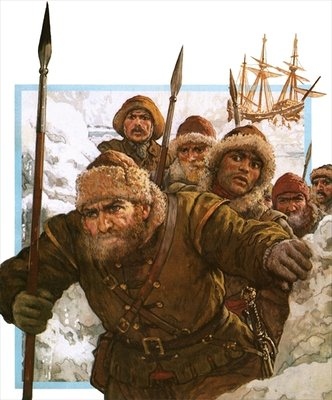 Prisoners of the Polar Ice Fine Art Print by Clive Uptton