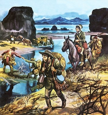 California gold rush Fine Art Print by Ron Embleton