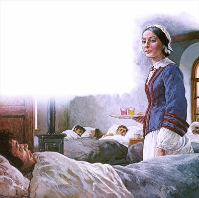 Florence Nightingale Fine Art Print by Clive Uptton