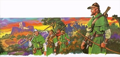 Robin Hood and his merry men Fine Art Print by Ron Embleton