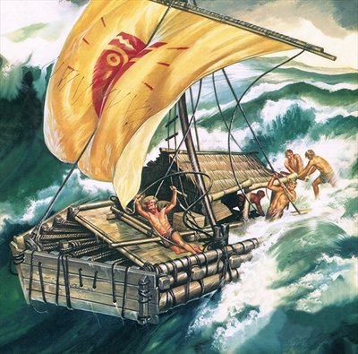 The Voyage of the Kon-Tiki Fine Art Print by Ron Embleton