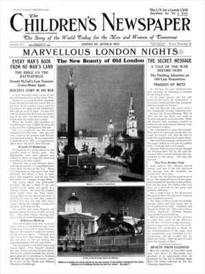 The New Beauty of Old London, from 'The Children's Newspaper', September 1931 (newsprint) Wall Art & Canvas Prints by English School