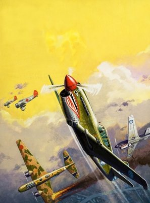 The Flying Tigers during the Spanish Civil War Fine Art Print by Severino Baraldi