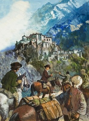 The Hamis lamasery, high in the Himalayas Fine Art Print by Clive Uptton