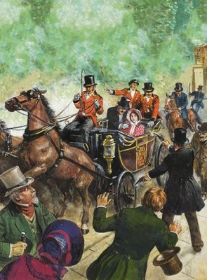 Assassination attempt on Queen Victoria Wall Art & Canvas Prints by Clive Uptton