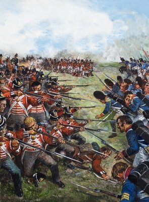 The Battle of Waterloo, 1815 Postcards, Greetings Cards, Art Prints, Canvas, Framed Pictures, T-shirts & Wall Art by Clive Uptton