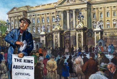 King Edward VIII Abdication Crisis Fine Art Print by Clive Uptton