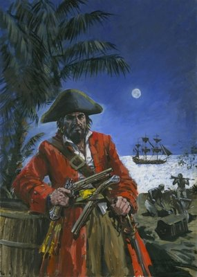 Captain Kidd Wall Art & Canvas Prints by Graham Coton
