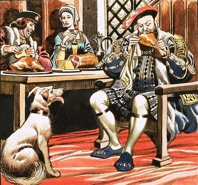 King Henry VIII eating Postcards, Greetings Cards, Art Prints, Canvas, Framed Pictures, T-shirts & Wall Art by Ron Embleton