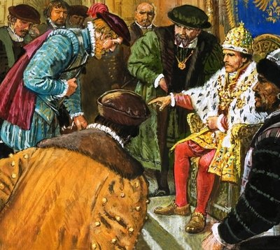 Richard Chancellor is taken to meet Tsar Ivan Fine Art Print by Clive Uptton