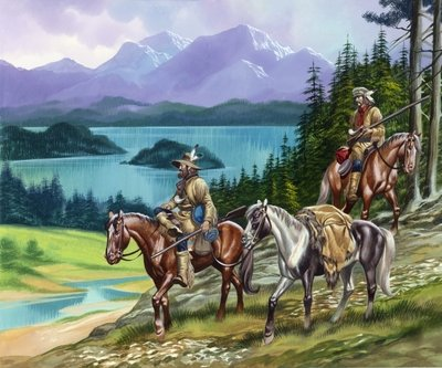 Trappers in the Wild West Postcards, Greetings Cards, Art Prints, Canvas, Framed Pictures, T-shirts & Wall Art by Ron Embleton