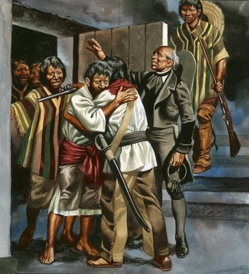 The Mexican revolution began when Father Hidalgo led a band of armed men to the local prison Postcards, Greetings Cards, Art Prints, Canvas, Framed Pictures, T-shirts & Wall Art by Ron Embleton