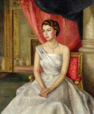 Queen Elizabeth II Postcards, Greetings Cards, Art Prints, Canvas, Framed Pictures, T-shirts & Wall Art by Lydia de Burgh