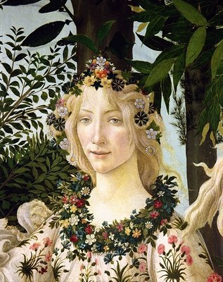 Flora, detail from the Primavera, c.1478 Fine Art Print by Sandro Botticelli