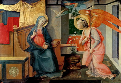 The Annunciation, 1445-50 Poster Art Print by Fra Filippo Lippi
